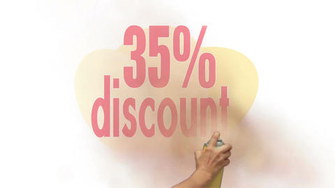 35 Percent Discount Spray Painting stock footage