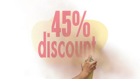 45 Percent Discount Spray Painting stock footage