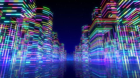Neon Light City F 1 Ab 2 4k Animation