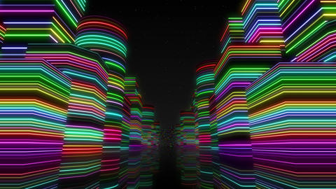 Neon Light City F 1 Ba 2 4k Animation