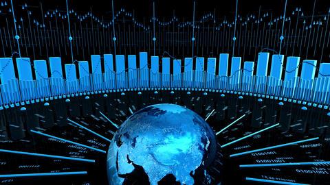 World Stock Market Business Chart Animation