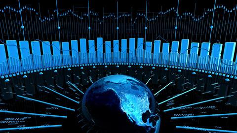 World Stock Market Business Chart Stock Video Footage