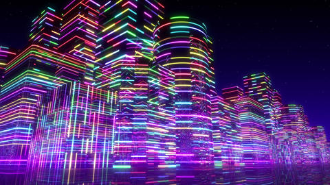 Neon Light City F 3 Ab 2 4k Animation