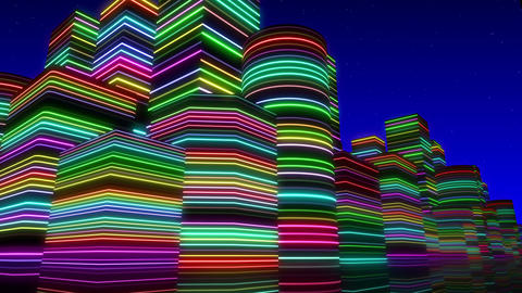Neon Light City F 3 Ba 2 4k Animation