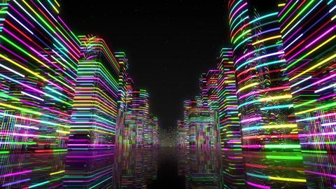 Neon Light City Z 1 Aa 2 4k Animation