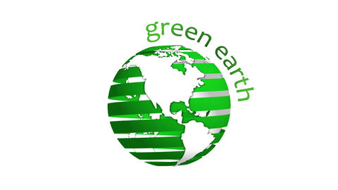 Green Earth Green Ribbon Looping Animation