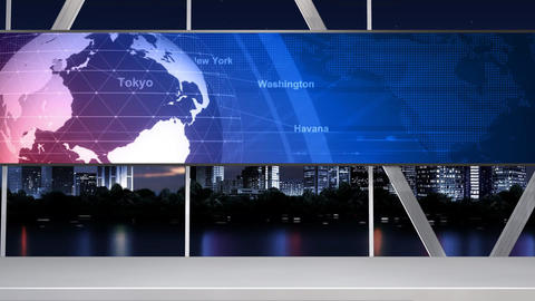 News Studio 100 C 1 Push Stock Video Footage