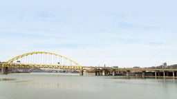 Fort Pitt Bridge stock footage