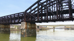 Railroad Bridge stock footage