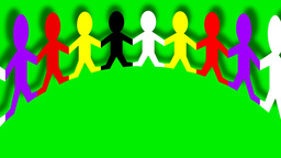 ANIMATED PAPER CHAIN PEOPLE Animation