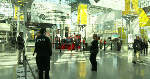 Main Entrance Of New York International Auto Show stock footage