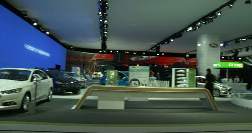 Ford exhibit at the New York Auto Show Footage