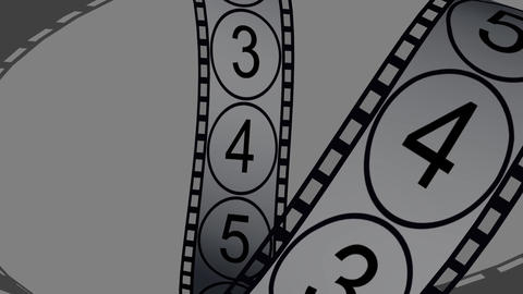 Movie Film Footage With Digital Numbers.abstract Multimedia Videography stock footage