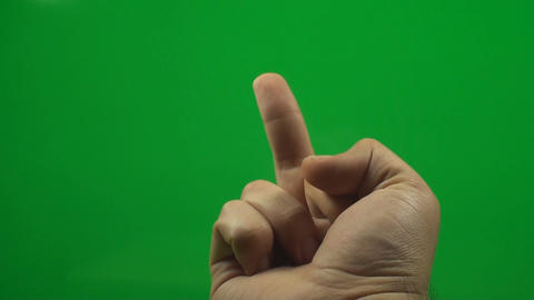 Flipping The Bird On A Green Screen, Chroma, Key,  stock footage