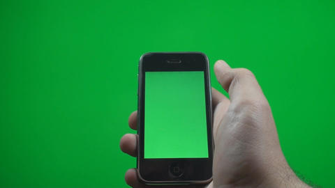 Hand Making Zoom Gestures On A Smartphone With A G stock footage