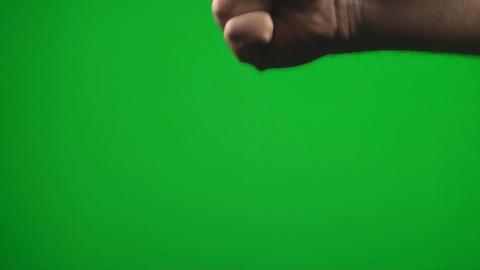 Rock, Paper, Scissor, Hand Makes The Rock Gesture Stock Video Footage