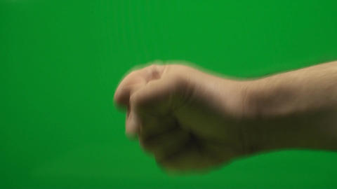 Rock, Paper, Scissor, Hand Makes The Paper Gesture Live Action