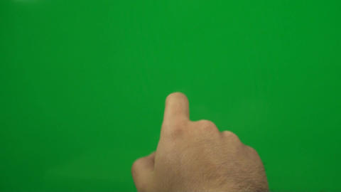 Hand Making Touch Screen Gestures On A Green Scree Footage