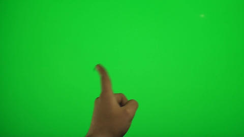 Hand Swiping Left And Right On A Green Screen, Chr Footage