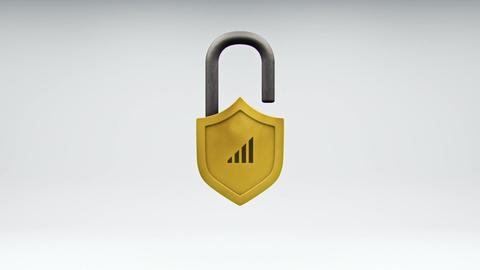 Internet Safety Shield and Network Security Lock GIF