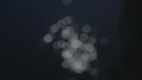 artistic out of focus moonlight on water to Auckla Stock Video Footage