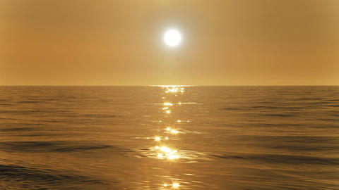 Sunset timelapse on the Black sea near Batumi, Geo Footage