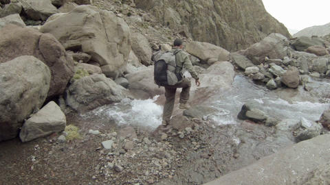 FT 0061 Backpacker In Atlas Mountains 3 Go Pro 24 Footage