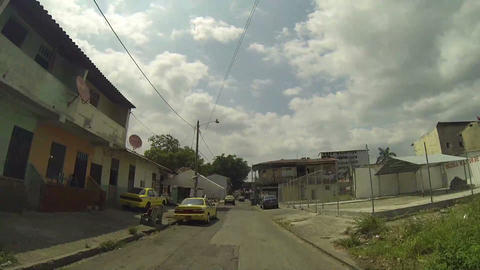 Shanty Town Or Poor Area In Panama stock footage