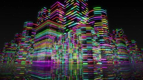 Neon Light City F 2 Aa 2 4k Animation