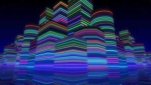Neon Light City F 2 Bb 2 4k Animation