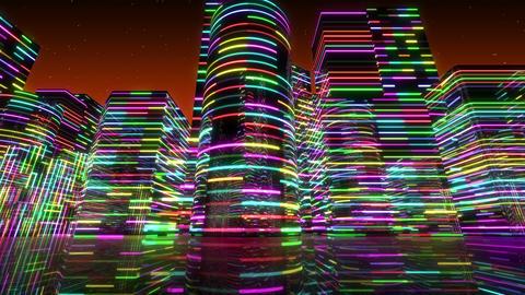 Neon Light City S 1 Aa 2 4k Animation