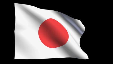 JAPAN Flag stock footage