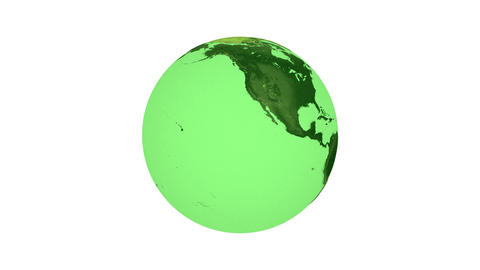 Animation of spinning green planet Earth Animation