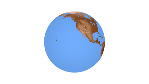 Animation of spinning planet Earth Animation