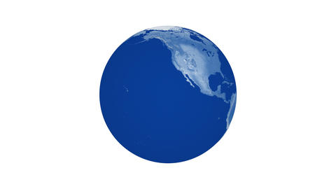 Animation of blue spinning blue planet Earth Animation
