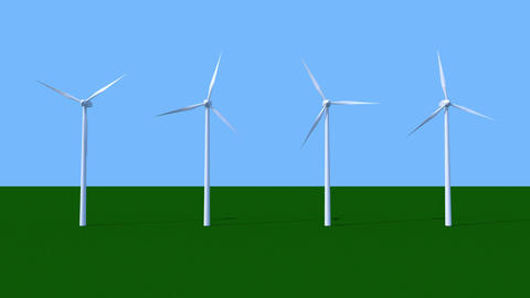 Spinning wind power generators Stock Video Footage