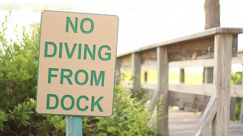 NO DIVING FROM DOCK Live Action