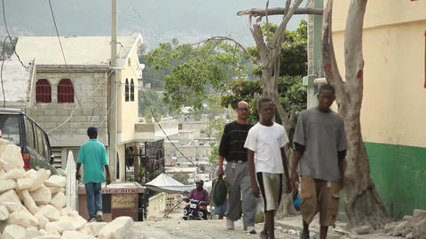 Port Au Prince Street stock footage