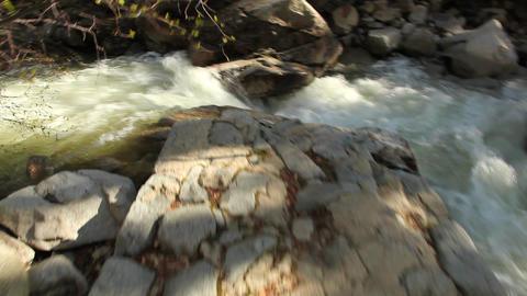Mountain steam glidecam shot Footage