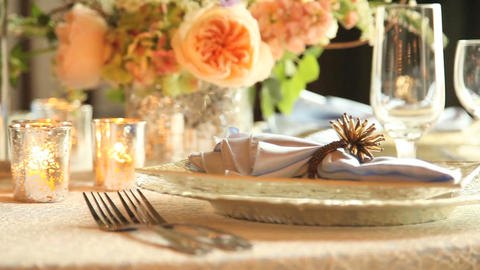 Wedding table setting Footage