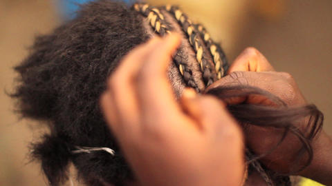 Weaving Hair stock footage
