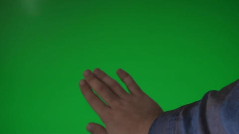 Man Cleaning A Green Screen, Chroma, Key, Gesture, Footage