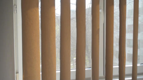 Window Curtain In A Bedroom, Home, Window, House stock footage