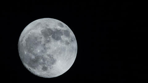 4k UHD full moon diagonal time lapse 11334 Footage
