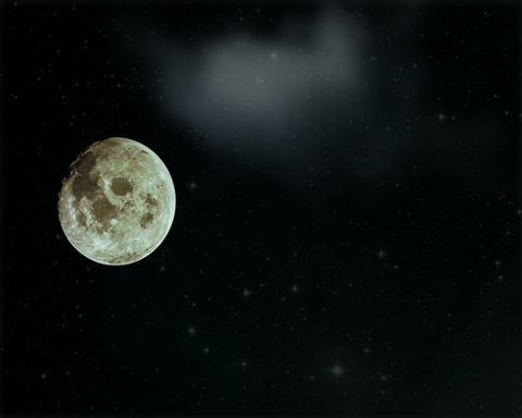 Abstract background moon and clouds Stock Video Footage