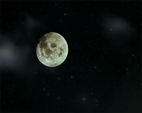 Moon And Clouds Animation stock footage