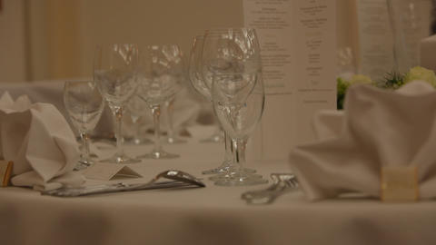 Set Table stock footage
