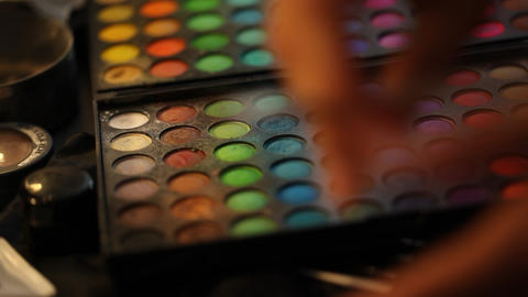Make Up stock footage
