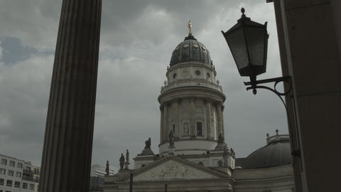 French Cathedral At Gendarmenmarkt stock footage