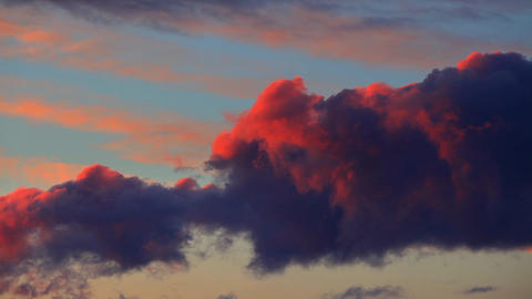 Dramatic Cloudscape At Twilight stock footage